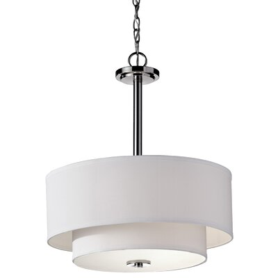 Arlon 3-Light Drum Pendant