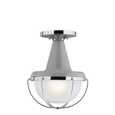 Alcazar 1-Light Flush Mount Finish: High Gloss White