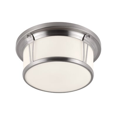 Parkdale 3-Light Flush Mount Finish: Brushed Steel