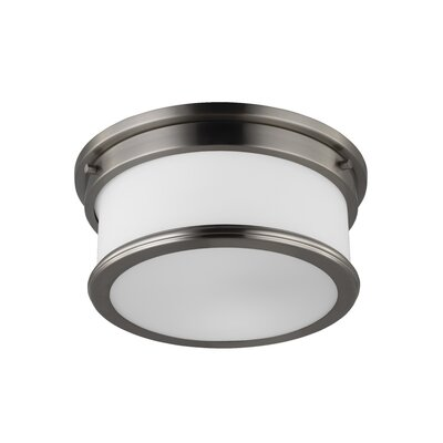 Vilen 2-Light Flush Mount Finish: Brushed Steel