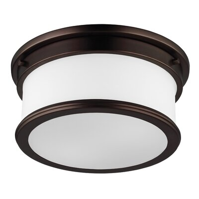 Vilen 1-Light Flush Mount Finish: Dark Plated Bronze