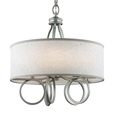 Lambda 5-Light Drum Pendant Finish: Burnished Silver
