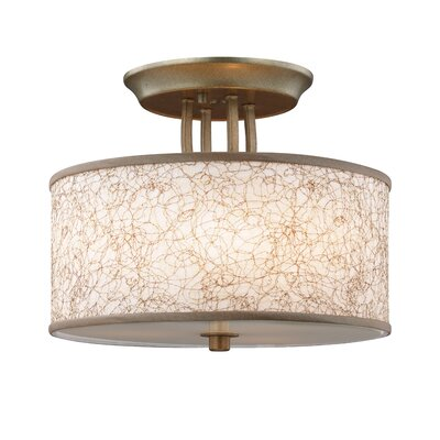 Lambda 3-Light Semi-Flush Mount Finish: Burnished Silver