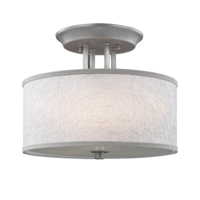 Lambda 3-Light Semi-Flush Mount Finish: Dark Silver