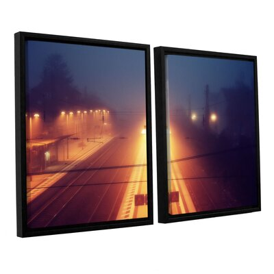 Night Adventure 2 Piece Framed Photographic Print on Wrapped Canvas Set Size: 24