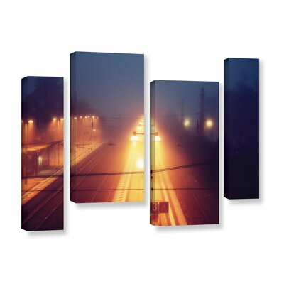 Night Adventure 4 Piece Photographic Print on Wrapped Canvas Set Size: 24