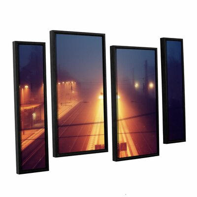Night Adventure 4 Piece Framed Photographic Print on Wrapped Canvas Set Size: 24