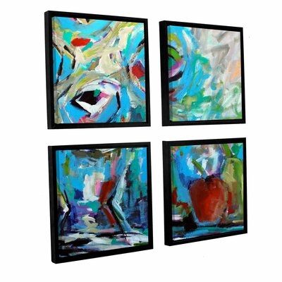 Big Cool Flowers 4 Piece Framed Painting Print Set Size: 36
