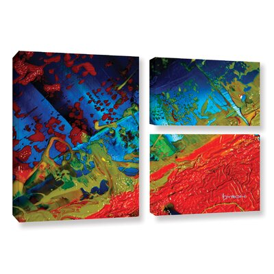 Emotional Chaos 3 Piece Painting Print on Wrapped Canvas Set