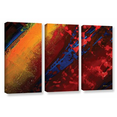 Out From The Depth 3 Piece Painting Print on Wrapped Canvas Set Size: 24