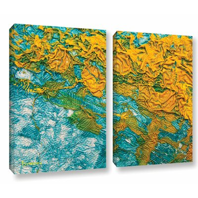 Summer Breeze 2 Piece Graphic Art on Wrapped Canvas Set