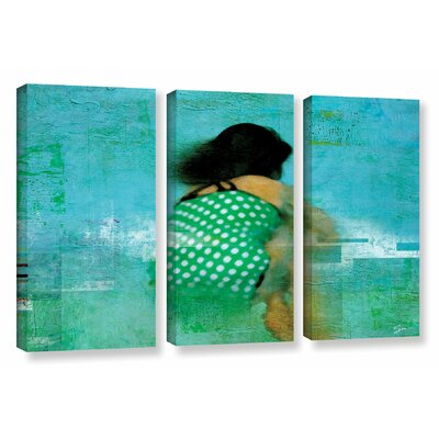 Floating Away 3 Piece Painting Print on Wrapped Canvas Set