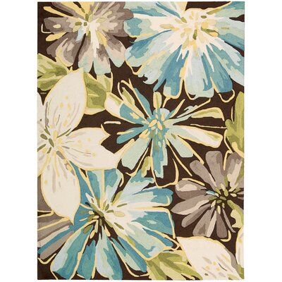 Hewish Hand-Hooked Brown/Blue Area Rug Rug Size: Runner 23 x 8