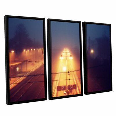 Night Adventure 3 Piece Framed Photographic Print on Canvas Set