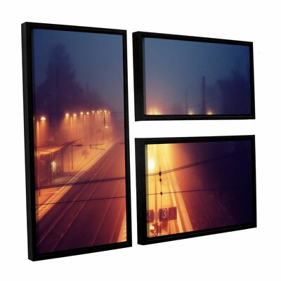 Night Adventure 3 Piece Framed Photographic Print on Canvas Flag Set