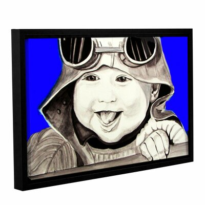 'Baby Pilot' Framed Painting Print on Wrapped Canvas Size: 12