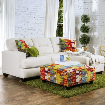 Manwe Reversible Chaise Sectional with Ottoman