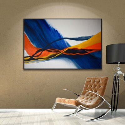 Blue Wave Framed Painting Print