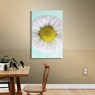 Daisy Mint  Photographic Print on Wrapped Canvas Size: 12