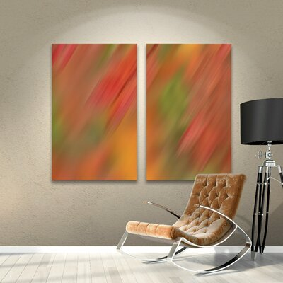 Colored Wind 2 Piece Painting Print Wrapped Canvas Set Size: 18