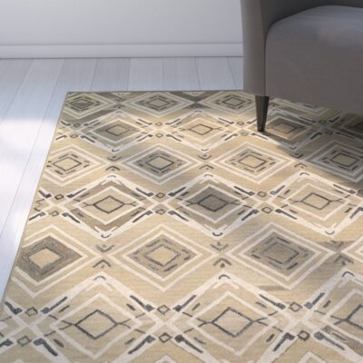 Cecelia Hand-Crafted Brown Area Rug Rug Size: 79 x 99