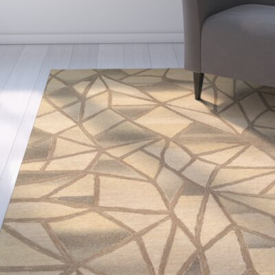 Cecelia Hand-Crafted Beige Area Rug Rug Size: 5 x 79