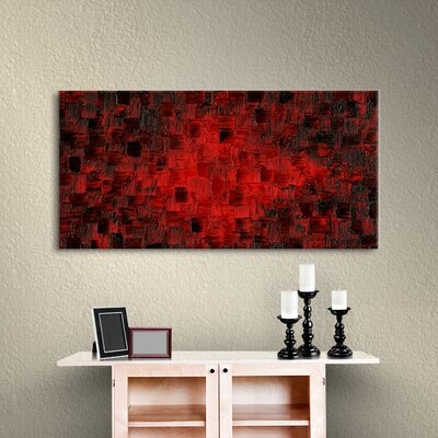 Fire Within Wall Art on Wrapped Canvas Size: 12
