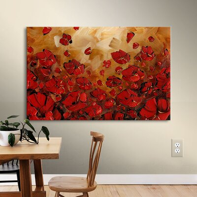 Poppies Painting Print on Wrapped Canvas Size: 12