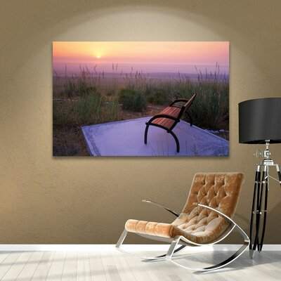 Peach Sunset Photographic Print on Wrapped Canvas Size: 14