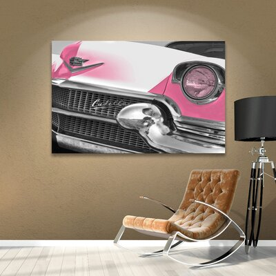 Pink Cadillac Photographic Print on Wrapped Canvas Size: 14