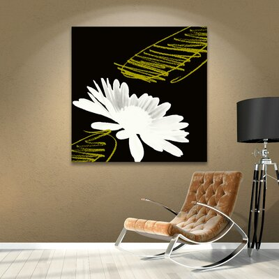 Daisy Cup Painting Print on Wrapped Canvas LTRN5277 33280354