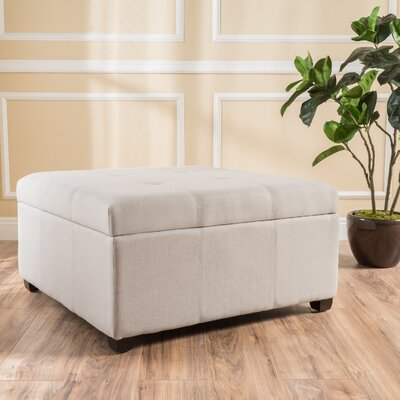 Ernestine Storage Ottoman Upholstery: Light Grey