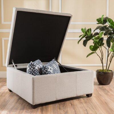 Ernestine Storage Ottoman Upholstery: Light Grey