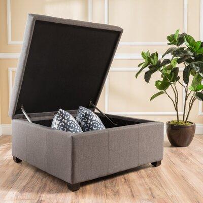 Ernestine Storage Ottoman Upholstery: Dark Grey