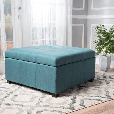 Ernestine Storage Ottoman Upholstery: Dark Teal