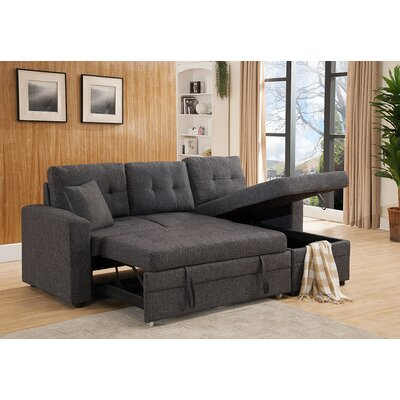 Weymand Reversible Sleeper Sectional Upholstery: Gray