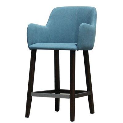 Cameron Bar Stool Upholstery: Blue