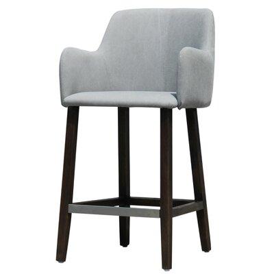 Cameron Bar Stool Upholstery: Light Grey