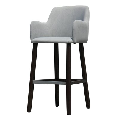 Cameron Bar Stool Upholstery: Light Grey