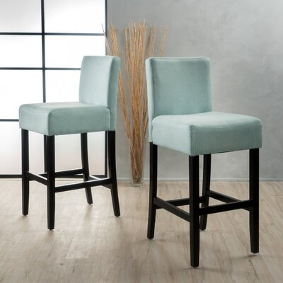Gabriel 29.5 Bar Stool Upholstery: Light Blue