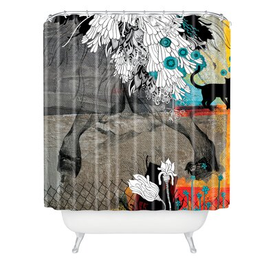 Herkimer Stay Awhile Extra Long Shower Curtain