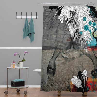 Herkimer Stay Awhile Shower Curtain