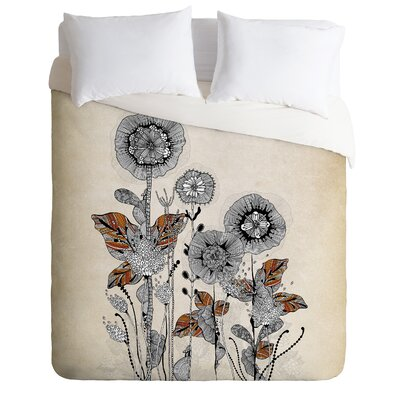 Brant Floral 3 Duvet Cover Size: Queen, Fabric: Lightweight