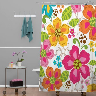 Rene Blooms Shower Curtain