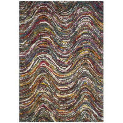 Gleno Red Area Rug Rug Size: Rectangle 51 x 76