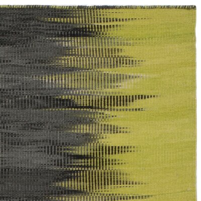 Amerina Hand-Woven Green/Charcoal Area Rug