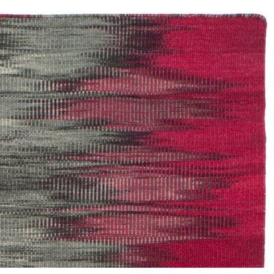 Amerina Hand-Woven Fuchsia/Charcoal Area Rug Rug Size: 8 x 10