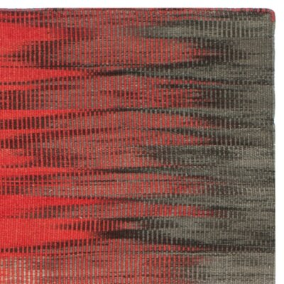 Amerina Hand-Woven Red/Charcoal Area Rug Rug Size: 8 x 10