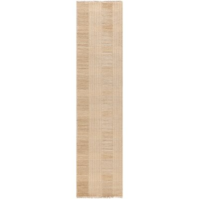 Apple Creek Hand-Knotted Beige Area Rug Rug Size: Runner 2 x 8