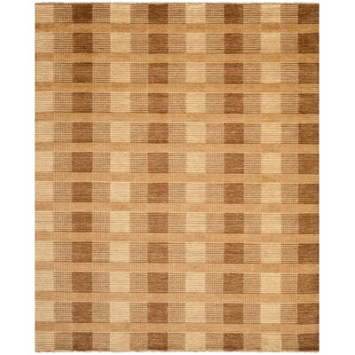 Apple Creek Hand-Knotted Brown Area Rug Rug Size: Rectangle 8 x 10